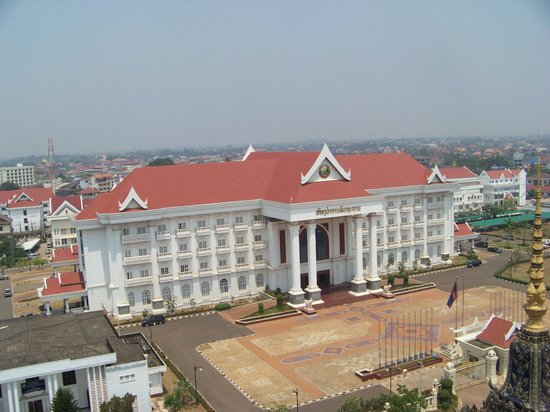 Patuxai: View of the Prime Ministers residence