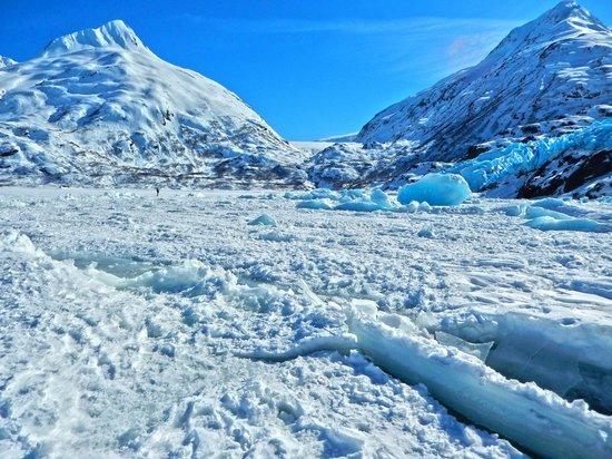 Portage Glacier seen from Portage Lake