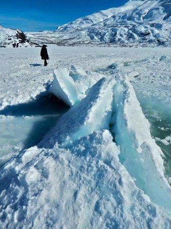 Portage Glacier: ice heaving