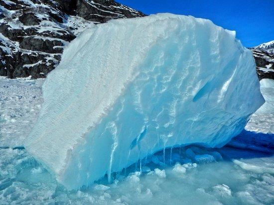 Portage Glacier: boulder