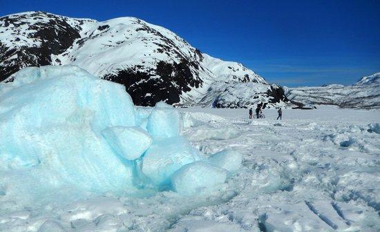 Portage Glacier: glacier boulders