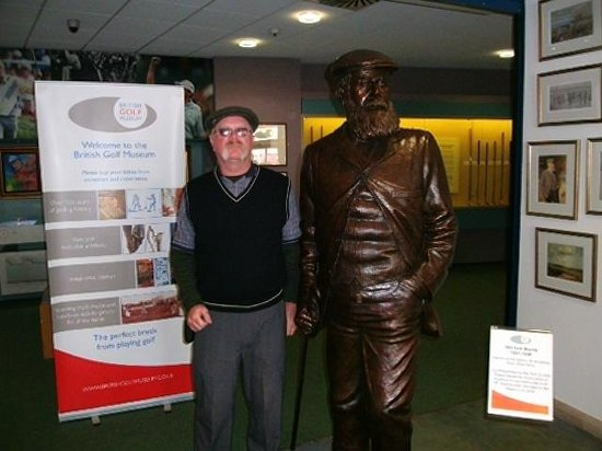 """British Golf Museum: Me and """"Old Tom""""."""
