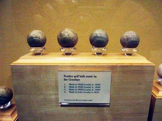 British Golf Museum: Old feather filled golf balls