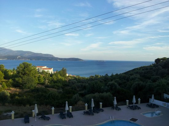 Hotel Naftilos: Aussicht Ägäis