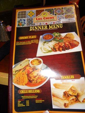 Los Cucos Mexican Restaurant Huge Menu