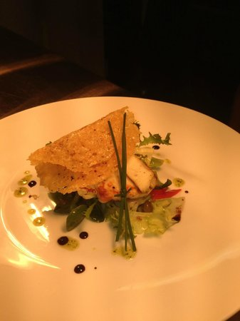 The Old Tannery: Pan Fried Halloumi Salad, Parmasane Crisp