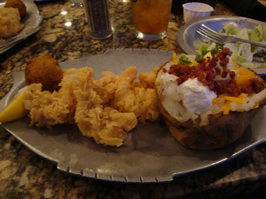 Mike Anderson S Seafood Gonzales Fried Shrimp And Baked Potato