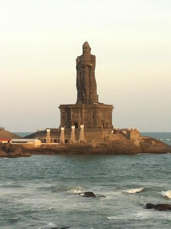 Thiruvalluvar Statue: As seen from the shore