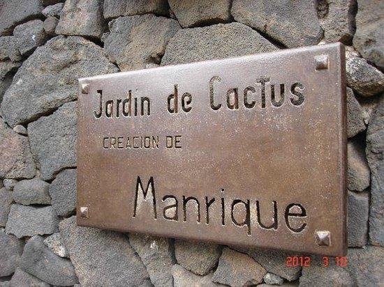 Jardin de Cactus : L'ENTREE DU JARDIN