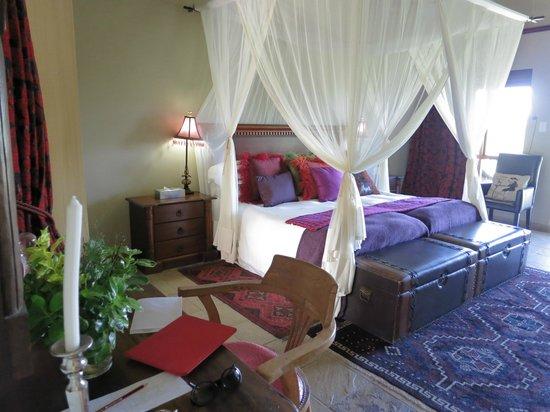 De Zeekoe Guest Farm : Hotelzimmer - Kingsizebett