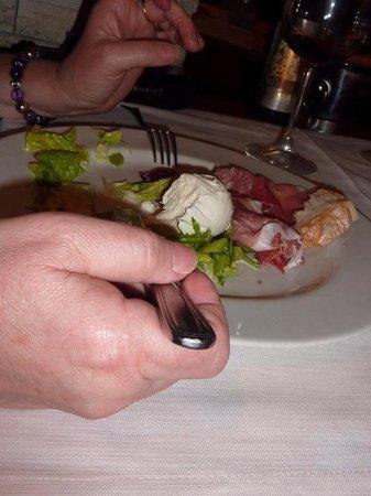 Bottega Trattoria De Santis: Mozarella and Ham