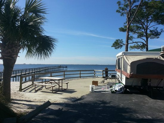 Beach Front Campsite Picture Of Navarre Beach Campground