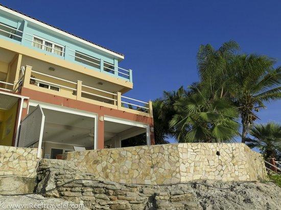 Den Laman Condominium: Looking up from the beach