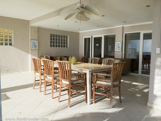 Den Laman Condominium: Patio of the beachfront two bedroom deluxe apt