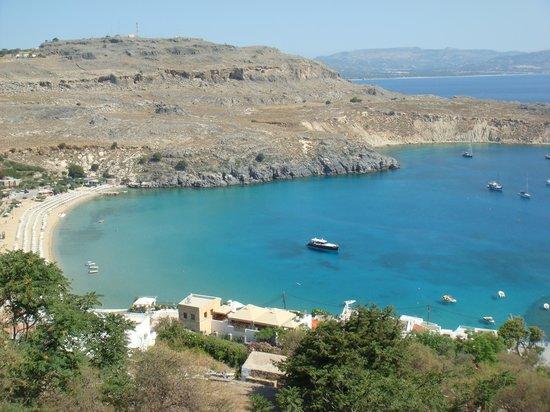 Sunrise Hotel: Le port de Lindos