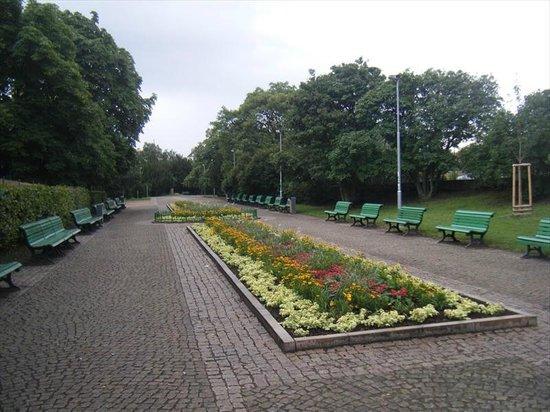 Riegrovy Sady Beer Garden: Empty park