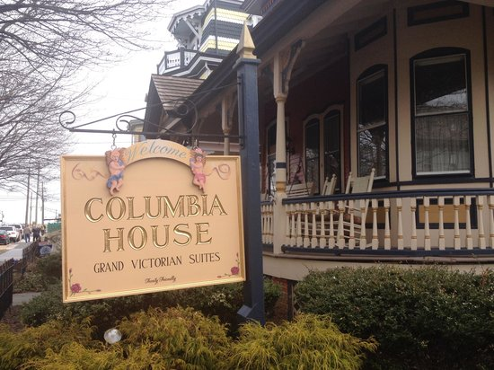 Front of Columbia House and front porch