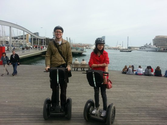 Barcelona Segway Glides: Down by Port Vell