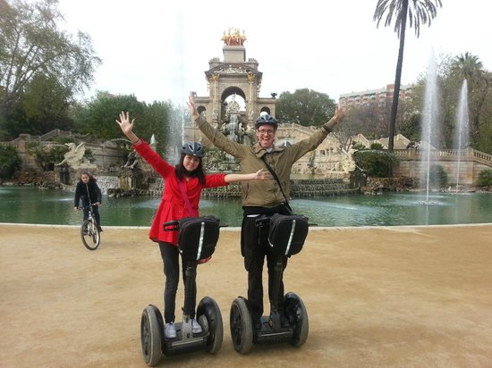 Barcelona Segway Glides: Near the Gaudi Statue in the park
