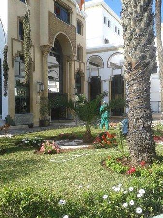 Hotel Argana : Front garden