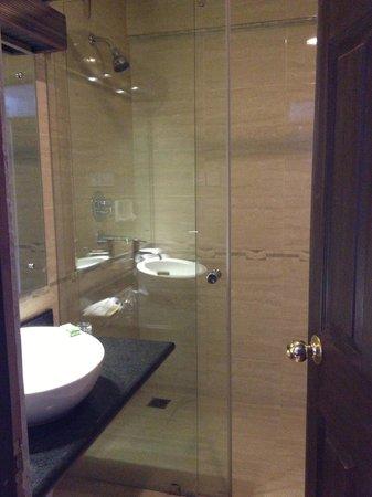 Kathmandu Guest House: Deluxe room bathroom