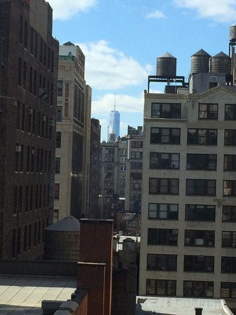 Courtyard New York Manhattan/Chelsea: View of Freedom Tower from room. 11th floor.