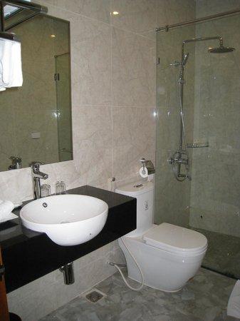 Spring Flower Hotel Hanoi : Baño moderno y funcional