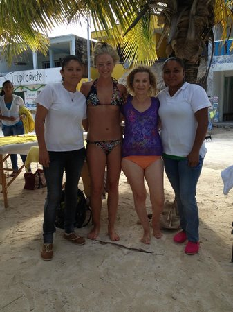 Tropicante Ameri-Mex Grill: these beautiful ladies will give you a massage on the beach