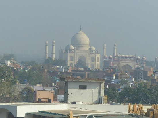 The Gateway Hotel, Agra: View of the Taj Mahal from the room