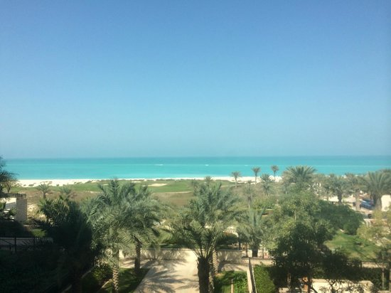The St. Regis Saadiyat Island Resort: View from the cafe and most likely a seaview room