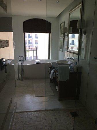 The St. Regis Saadiyat Island Resort: Huge bathroom area, walk in shower!