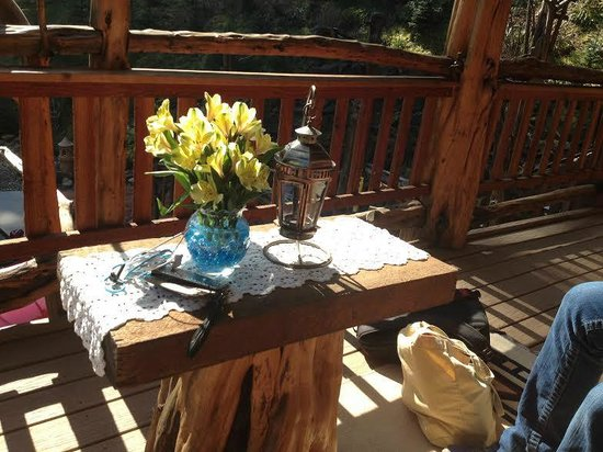 Lanzarotta Bed and Breakfast: Sitting are on porch off Yew Suite