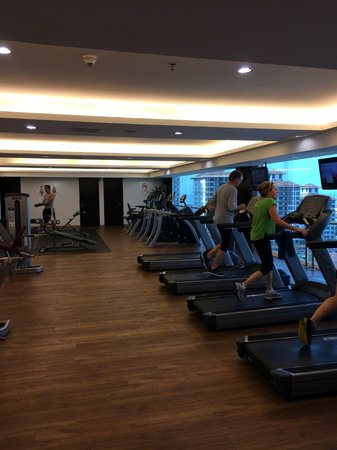 Hatten Hotel Melaka: Ample gym with a view