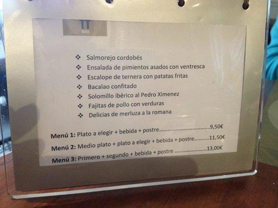 Spott : menu du jour