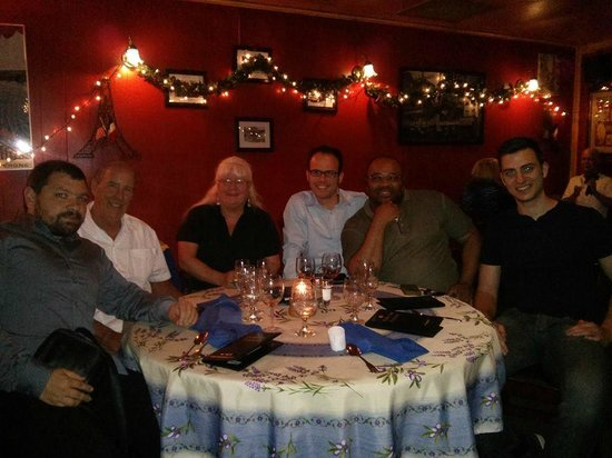 Gulf Bistro: Our group of 6 (2 French, 1 German)