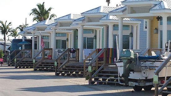 Fiesta Key RV Resort Marina These Are The Water Front Cabins Very Nice