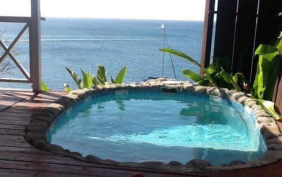 Ti Kaye Resort & Spa: View from our private lounge chair area looking at our plunge pool and the view