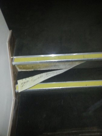 Best Western Palm Hotel : Stair on second floor 3/4/14 -I tucked it in for safety and mentioned to receptionist but beware