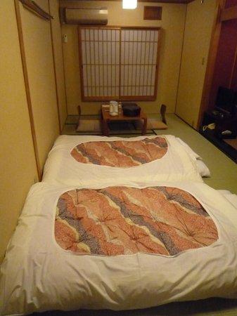 Nishiyama Ryokan : Zimmer mit Tatami