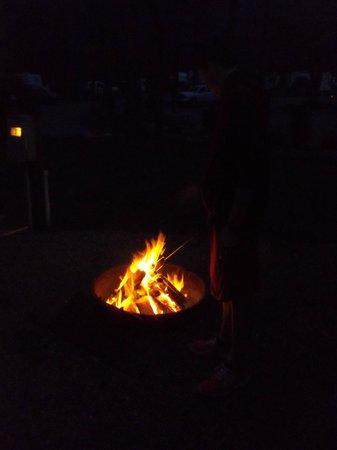 Townsend / Great Smokies KOA: Our fire