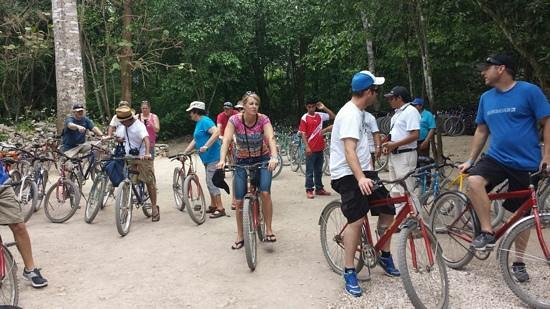Mormon Encounter LDS Tours : biking at Coba