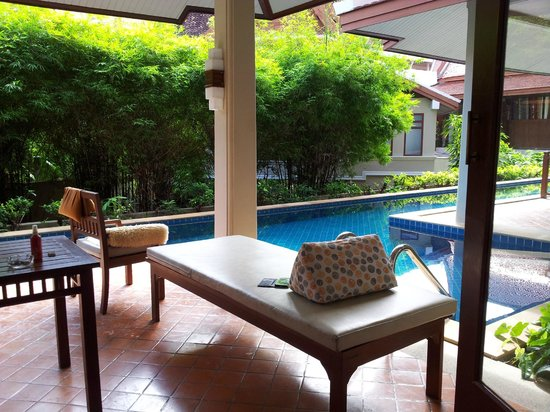 Samui Buri Beach Resort: Sitzplatz