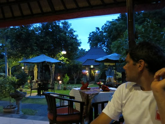 Tirta Sari Bungalows: view from the resto