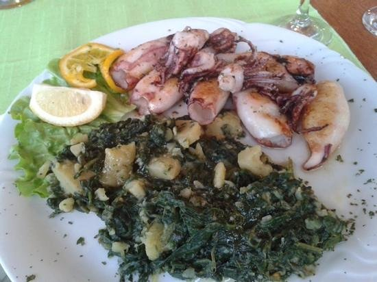 La Riva: gegrillte calamari