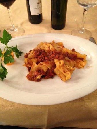 Antico Fattore : pappardelle with wild boar sauce