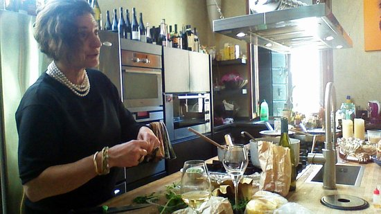 Enrica Rocca Cooking School Venice: Enrica doing what she does best!