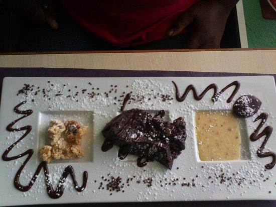 Le VERT'ical : Fondant chocolat raisins
