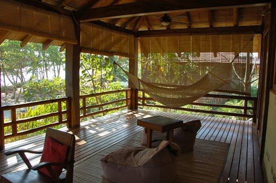 Pranamar Villas and Yoga Retreat : Deck at Garden Villa