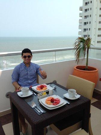Hotel Cabrero Mar: in their terrace/restaurant