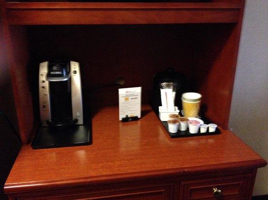 Hilton Garden Inn Columbus/Polaris: Kuerig!!!!!